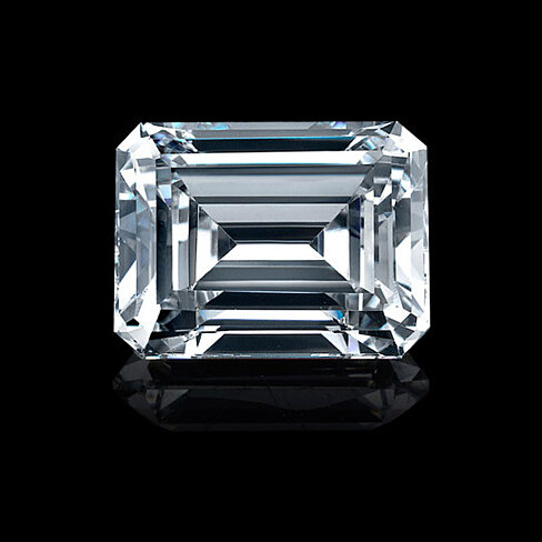 buy 2ct emerald cut diamond veneer loose stone by diamond