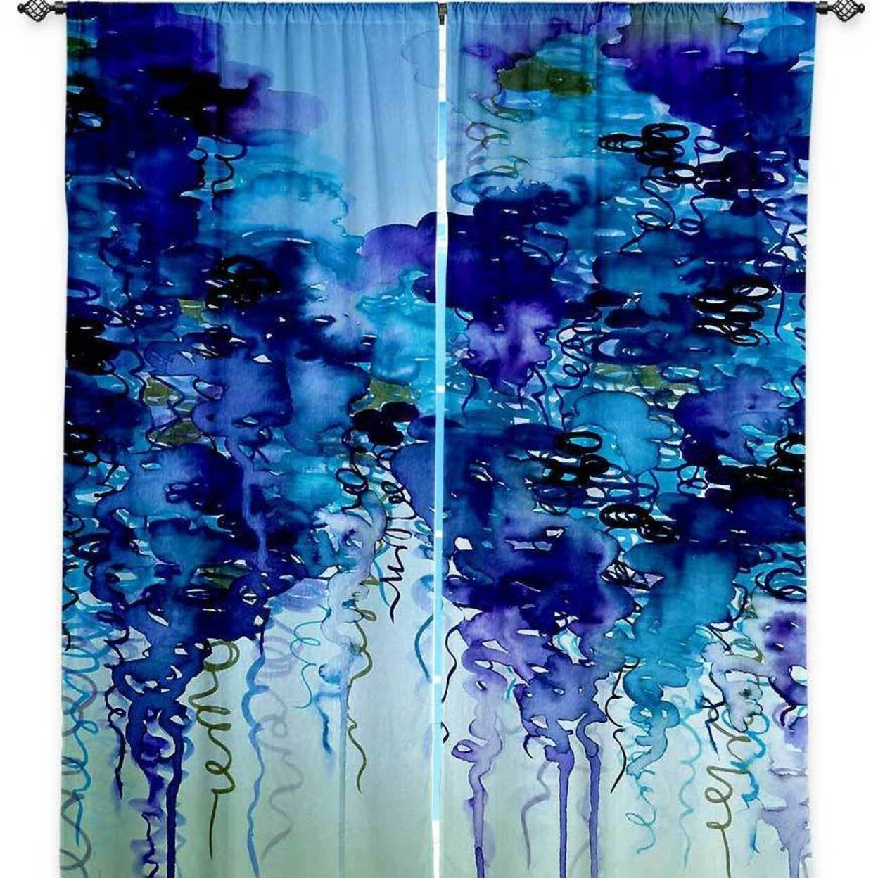 Artistic Lined Window Curtains Dianoche Designs By Julia Disano Cloudy Day Ii