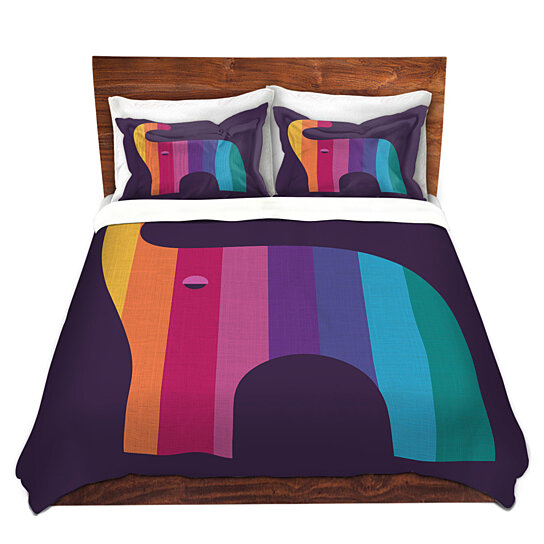 Buy Dianoche Microfiber Duvet Covers By Kim Hubball Elephant