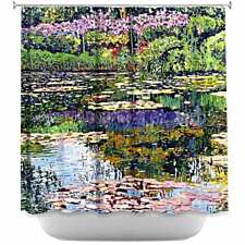 Shower Curtain Unique from DiaNoche Designs - Giverny Reflections