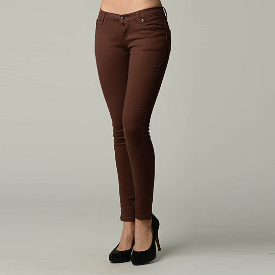 buy brown colored skinny jeans by dinamit jeans nyc on opensky. Black Bedroom Furniture Sets. Home Design Ideas