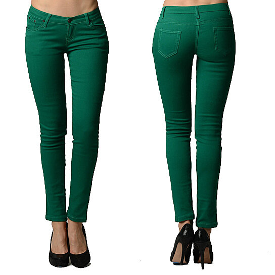 buy jade colored skinny jeans by dinamit jeans nyc on opensky. Black Bedroom Furniture Sets. Home Design Ideas