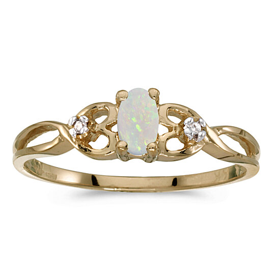 buy 14k yellow gold oval opal and ring rm931x 10