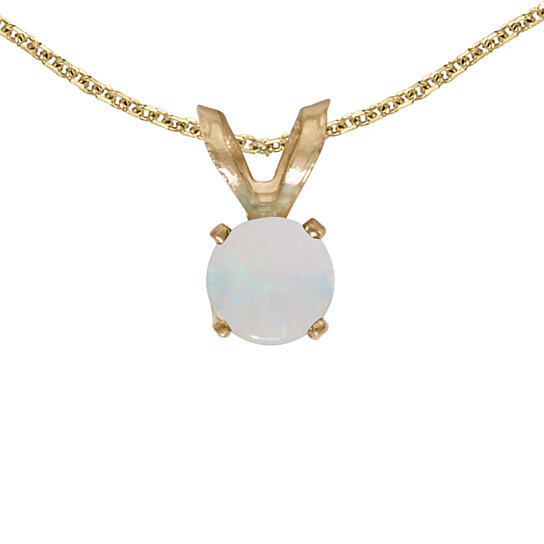 buy 14k yellow gold opal pendant with 18 quot chain by
