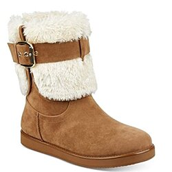 G By Guess Womens Amburr Faux Suede Winter Boots Brown , Chestnut, 6.5
