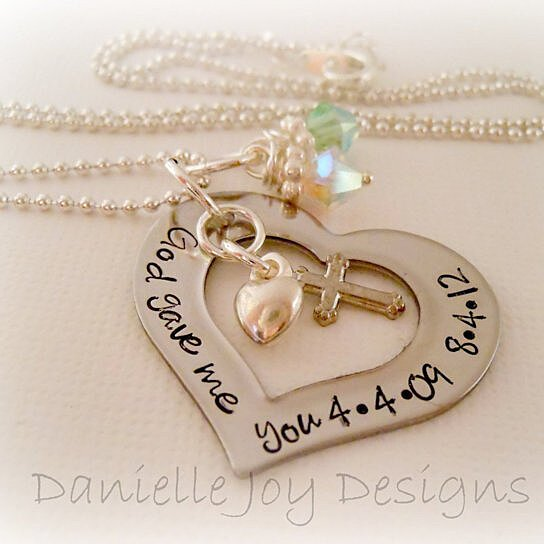 Buy hand stamped god gave me you personalized stainless for Engravable gifts for her
