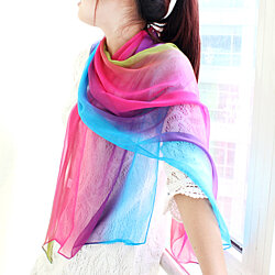 Sweet Comfortable Multicolor Chiffon Scarves