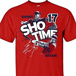 Los Angeles Angels MLBPA SHOHEI OHTANI #17 Sho Time Men's Cotton Tee Shirt