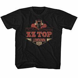 ZZ TOP-LOWDOWN-BLACK TODDLER S/S TSHIRT-2T