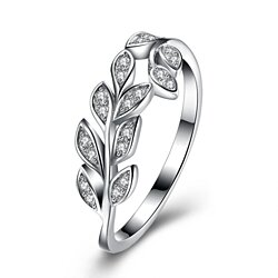 Leaf Design Sterling Silver Ring