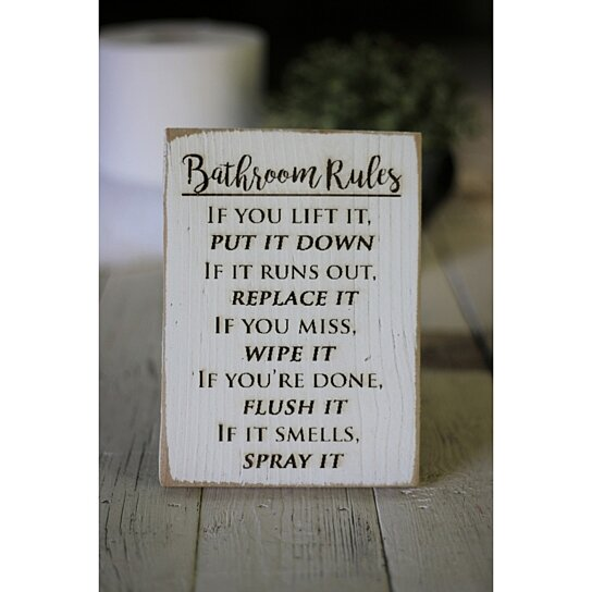 Cool Bathroom Rules Engraved Sign Download Free Architecture Designs Sospemadebymaigaardcom