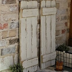 Farmhouse Window Shutters, 4 Colors, Set of 2