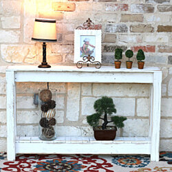 Rustic Entryway Table 46 Inch