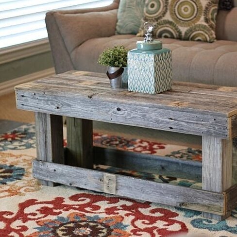 Natural Coffee Table no shelf