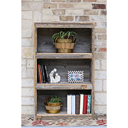 Natural Farmhouse Bookcase