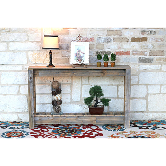 Buy Rustic Entry Table Console Table 46 W X 8 D X 28 H By Doug And Cristy Designs On Dot Bo