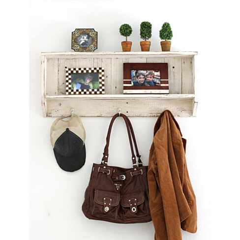 Rustic Entry Shelf | multiple colors