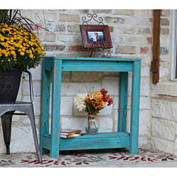 Small Turquoise Entry Console