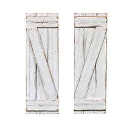 White Barn-Wood Style Window Shutters