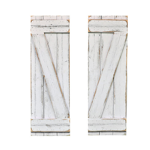White Barn-Wood Style Shutters