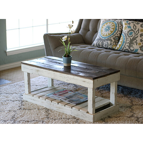 Incredible White Combo Slatted Coffee Table Dailytribune Chair Design For Home Dailytribuneorg