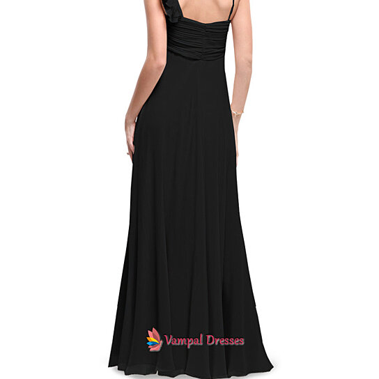 Fall Wedding With Black Bridesmaid Dresses : Bridesmaid dress black dresses for summer fall wedding by