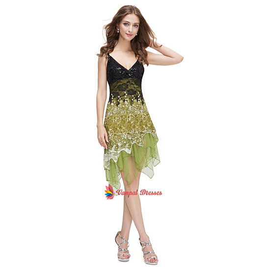 buy light green and black lace party dressesspaghetti