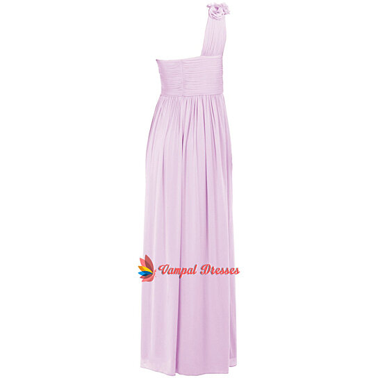 product long shoulder chiffon dress