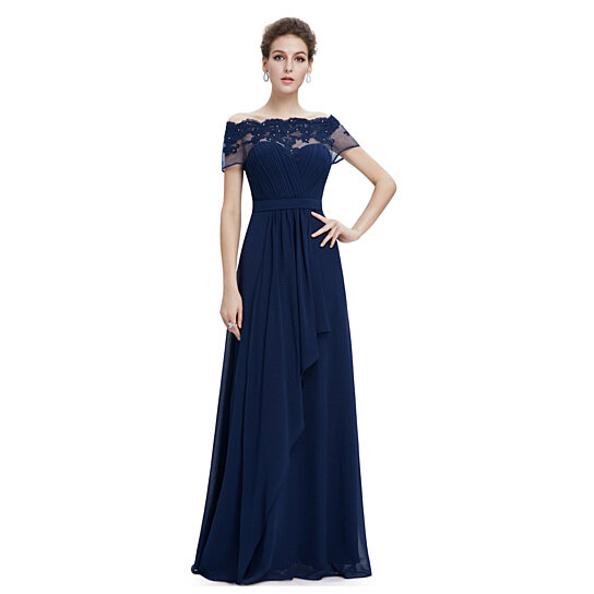 96285b9fcd472 to cart 39 times in the last 24 hours. Navy Blue Off The Shoulder Chiffon  Prom Dress With Beaded ...