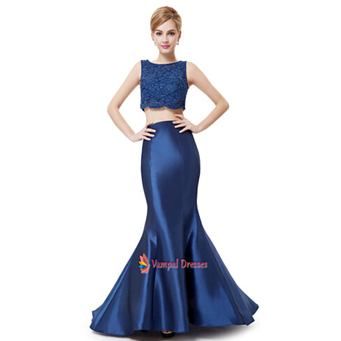 Baby Blue Mermaid Prom Dresses