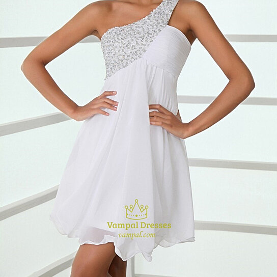 buy white one shoulder cocktail dresseswhite one shoulder