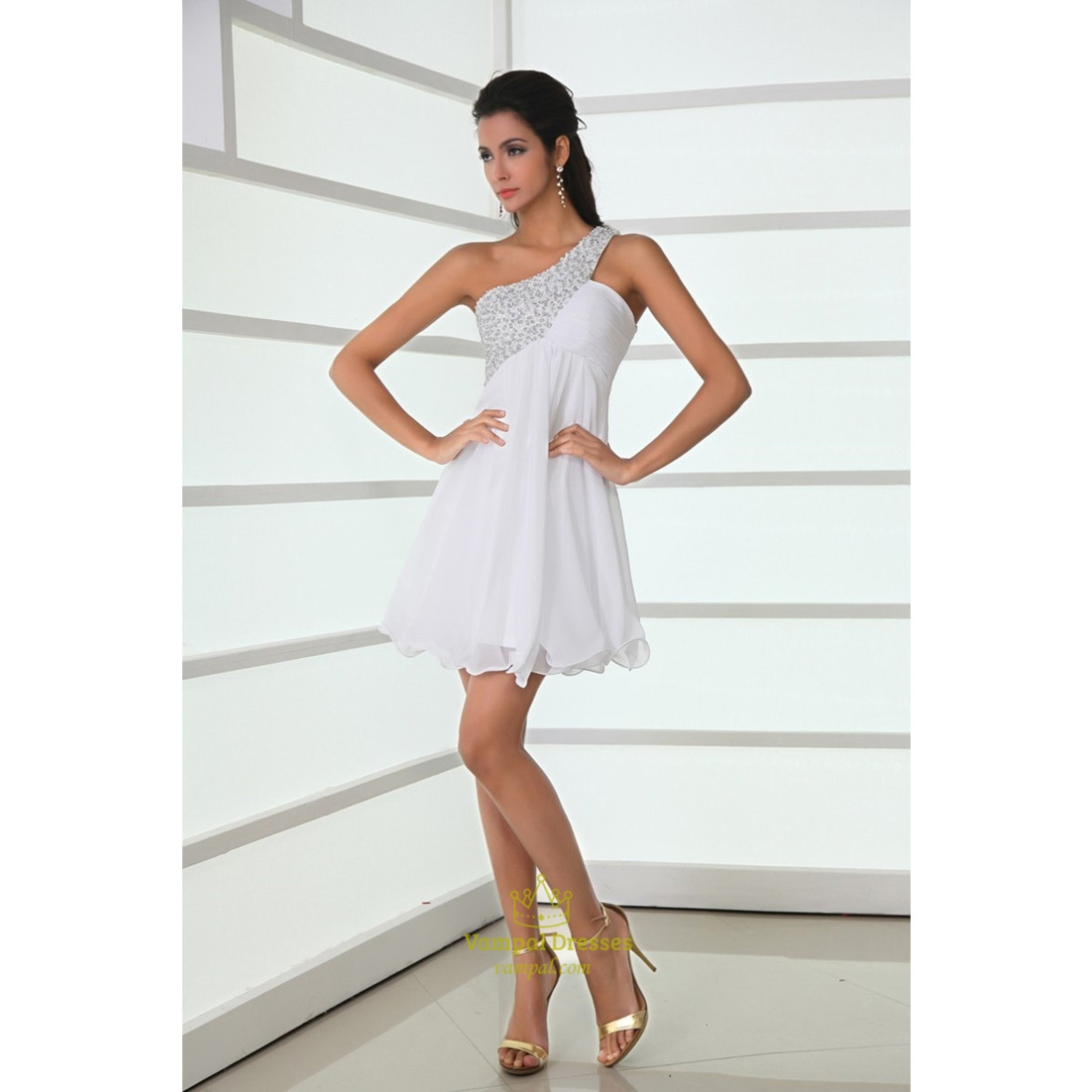 White Cotillion Dresses for Teens