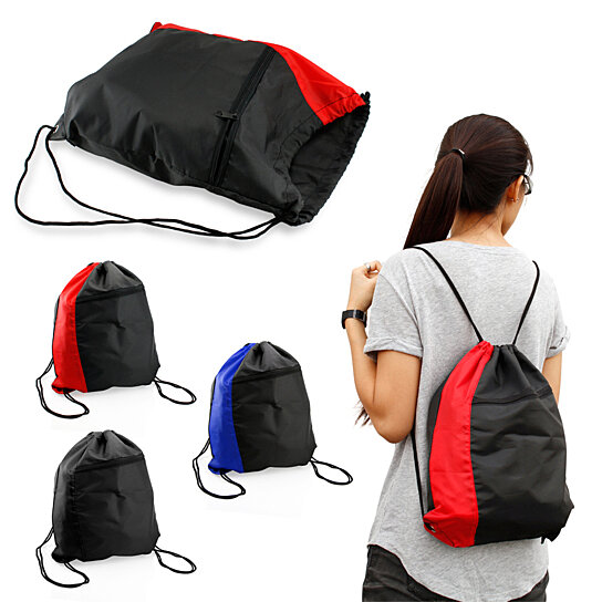 99f9bcbc64d5 Buy Colorblock Drawstring Backpack Cinch Sack School Tote Gym Bag Sport Pack  by DrHotDeal on OpenSky