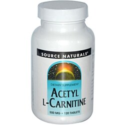 Source Naturals Acetyl L-Carnitine, 500 mg - 120 Tablets