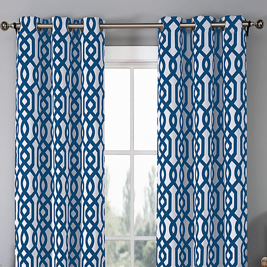 Buy 2 Piece Set Geometric Blackout Curtain Panel In 7 Colors By Duck River Textiles On Opensky