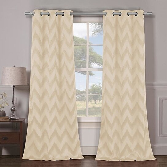 Buy Set Of 2 Lysanna Woven Triple Layered Blackout Curtain Panels By Duck River Textiles On Opensky