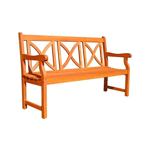 Malibu Outdoor Patio 5-foot Wood Garden Bench
