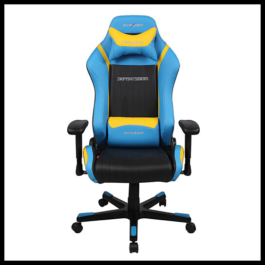 Surprising Dxracer Black Blue Yellow Color Modern Office Chair Pc Gaming Chair Leather Recliner Chairs Luxury Office Chairs De62Nby Gamerscity Chair Design For Home Gamerscityorg