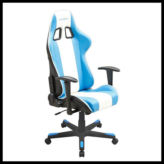Buy DXRacer-Blue & White-Ergonomic office chair-Game chair ...