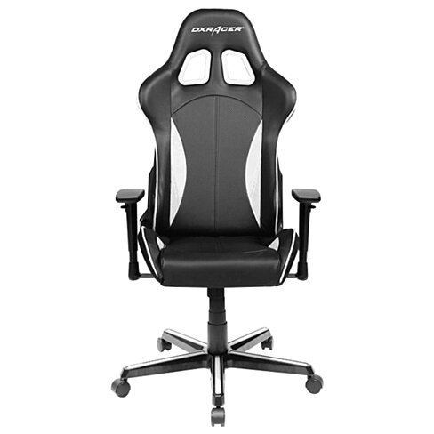 Buy DXRacer Black White High Back Chairs For Sale Leather Desk Chair Mo