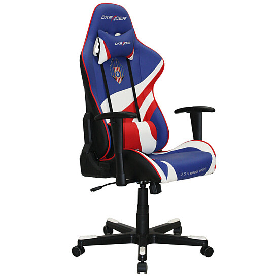 Amazing Dxracer Oh Fe74 Bwr High Back Gaming Chair Pu Red Blue White Gmtry Best Dining Table And Chair Ideas Images Gmtryco