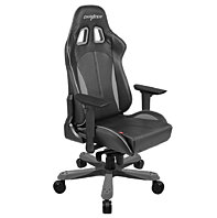 DXRacer KS06NW XL Gaming Chair Ergonomic Chair eSports Executive-Black and White
