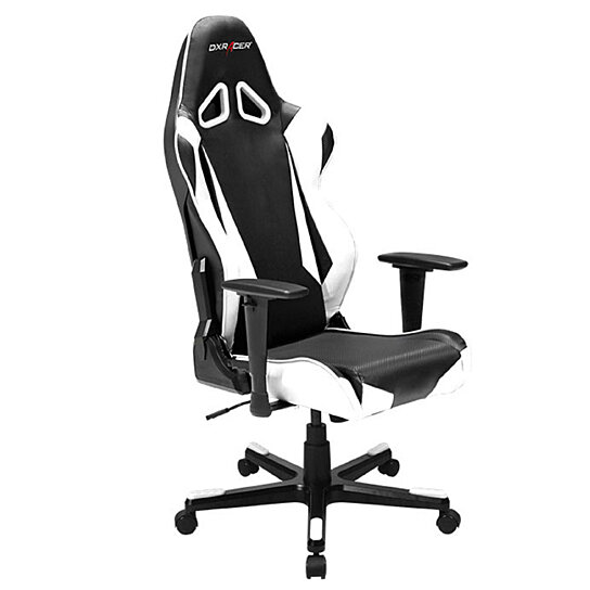 Groovy Dxracer Black White Racing Computer Chair Rocker Recliner Chairs Video Rocker Gaming Chair Car Seat Office Chair Rb1Nw Pdpeps Interior Chair Design Pdpepsorg