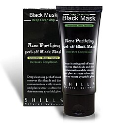 BOGO SALE ! ! ! SHILLS Blackhead R Activated Charcoal, Deep Cleansing Purifying, Peel-Off Black Face Mask, Natural, Oil-Control (50ml)