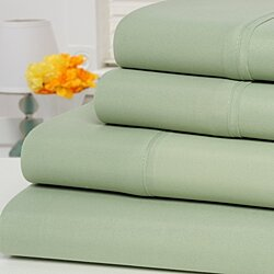 Ultra-Soft 1800 Series Wrinkle Free 4PC Sheet Set (QUEEN ) (SAGE)