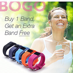 BOGO !!!!!!SmartFit Mini Bluetooth Fitness Activity Tracker with Free Extra Band