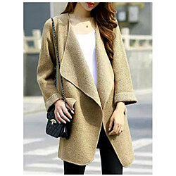 cool Outerwear  Open Front Pocket Detail Long Sleeve Knit Coat