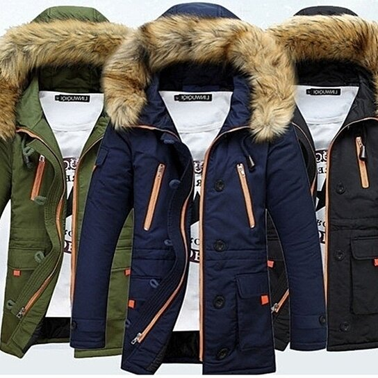 110d9f7be3a81 Buy Men Parka New Casual Fashion Mens Winter Jackets Stand Collar Hooded  Coat Chaqueta De Invierno De Los Hombres by Easy Sale on OpenSky