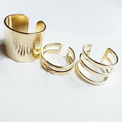 Rings 3pcs/set women fashion personality hollow out knuckle finger rings girl jewelry