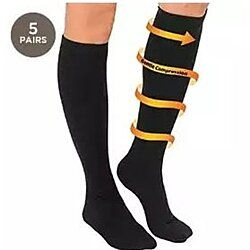 5 Pairs: Unisex All-Day Relief Compression Socks